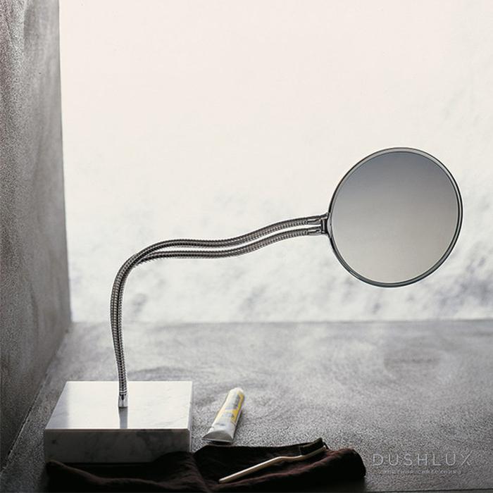 Agape Fusilli Зеркало двухстороннее отдельностоящее d21 см, круглое, цвет: хром