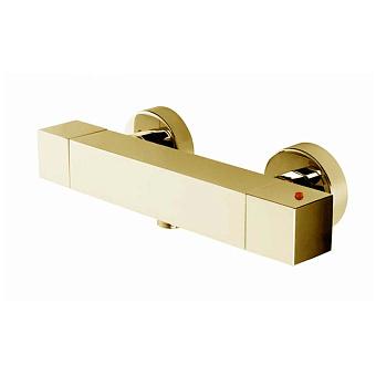 Bossini Cube Tермостат для душа, наружный, 1 выход  1/2', цвет: золото