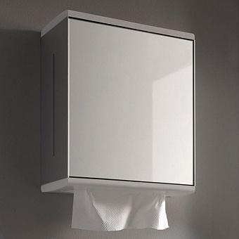 Keuco Collection Moll  Дозатор бумажных полотенец, зеркальная дверь, петли справа, подвесной монтаж, цвет: алюминий серебристый анодированный/белый