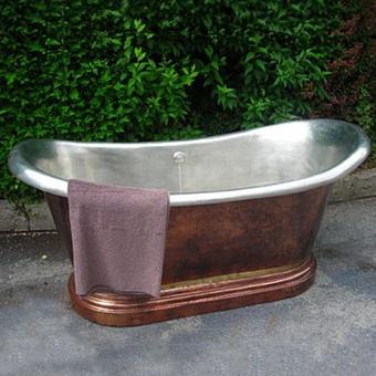Herbeau Medicis Ванна свободностоящяя, 190х88,5 см, патинированная медь/полуматовый никель