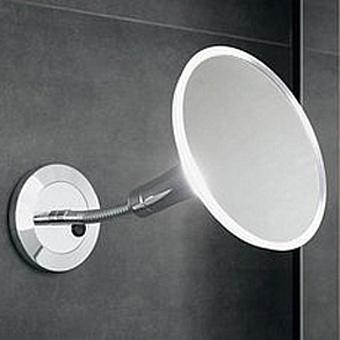 Keuco Elegance New Зеркало косметическое с подсветкой, подвесной монтаж, цвет: хром