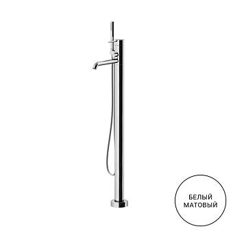 Gattoni Circle Two Смеситель для ванны напольный 994 мм, цвет: bianco opaco