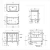 Gentry Home Adelaide Комплект мебели 92х90х55,8 см с раковиной