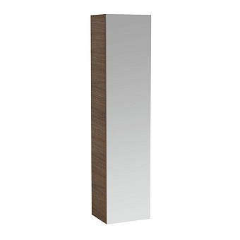 Laufen Alessi One Шкаф подвесной, 400х300х1700мм, с 1 зер дверцей, 4 полки, DX, цвет: орех
