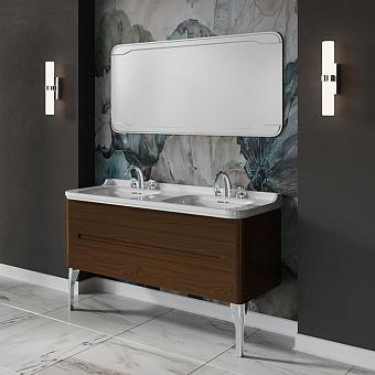 KERASAN Waldorf Комплект подвесной мебели 150см,  с 4 ящиками, цвет: темный орех (noce)