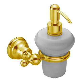 CISAL Arcana Дозатор подвесной керамический, цвет белый/золото