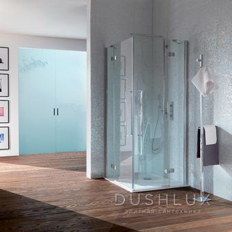 SAMO Zenit Душевой угол 96,5-99x200см, прозрачное стекло, петли справа\слева, хром