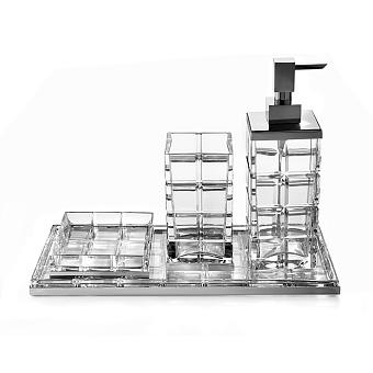 3SC Palace Комплект: стакан, дозатор, мыльница, лоток, , цвет: хром