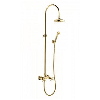 Bongio Axel Душевая стойка со смесителем, верхним душем 185 мм, ручной лейкой, цвет: бронза