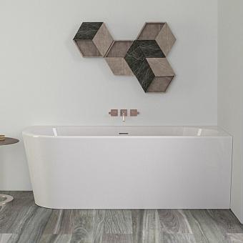 KNIEF Wall XS Corner L Ванна в правый угол 165x75*58xсм, с щелевым переливом, без сл-пер, цвет белый