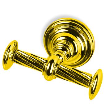 StilHaus Giunone Крючок двойной, подвесной монтаж, цвет: золото