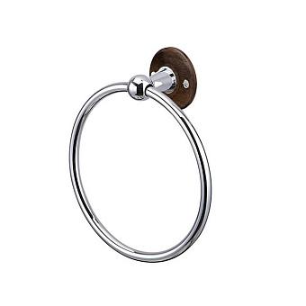 Burlington Black Полотенцедержатель, кольцо, 17x19.4см, цвет: xром/орех