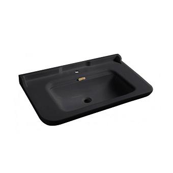 Kerasan Waldorf Раковина 100х55 см, 1 отв., керамическая, цвет: черный/золото