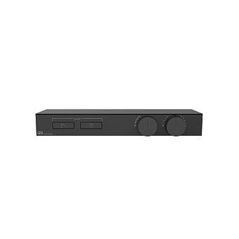 Gessi Hi-Fi Термостат для душа, с вкл. до 2 источников одновременно, с полкой из черного мат. стекла, цвет: Black XL