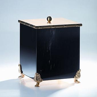 Cristal et Bronze Obsidian Коробочка с крышкой из обсидиана