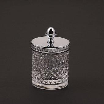 Cristal et Bronze Prestige Баночка из рифленого стекла с крышкой, цвет: хром