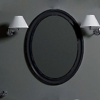SIMAS Lante Зеркало овальное 90х62см, цвета рамы nero