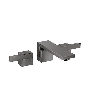Axor Edge Смеситель для раковины, на 3 отв., с донным клапаном push/open, излив 190мм, алмазная огранка, цвет: черный