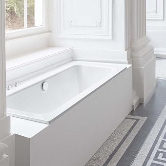 BETTE One Ванна пристенная с шумоизоляцией 180х80х42, BetteGlasur® Plus, цвет: белый