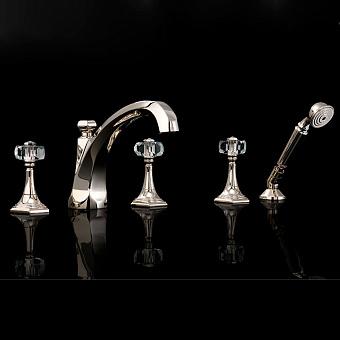 Devon&Devon Excelsior Gemstone Смеситель для ванны на пять отверстий, цвет: блестящий никель