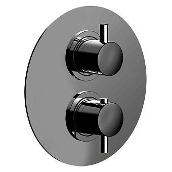 CISAL Less New Термостатический смеситель с переключателем на 2 положения, цвет черный матовый