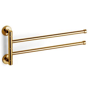 Bertocci Cinquecento Полотенцедержатель двойной, поворотный 37 см, цвет: золото