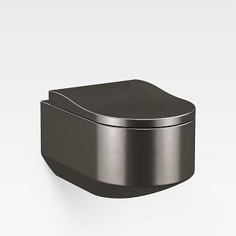 Armani Roca Baia Унитаз подвесной 56x38x30см безободковый, цвет: dark metallic