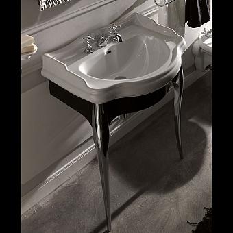 KERASAN Retro Консоль с белой раковиной 73см, цвета консоли: nero/cr