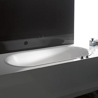 Bette Lux Oval Ванна встраиваемая овальная с шумоизоляцией  180x80x45 см, Glaze Plus , белая (для удлиненного слива-перелива)