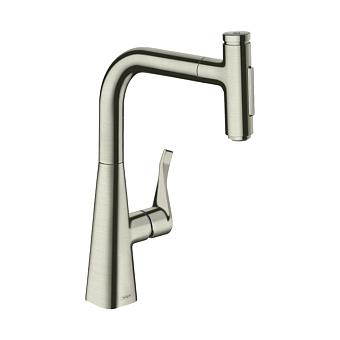 Hansgrohe Metris Select M71 Смеситель для кухни, 1 отв., цвет: нержавеющая сталь