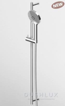 Zucchetti Pan Стойка для душа, с регулируемым кронштейном, с ручным душем Z94740, 80см, цвет: хром