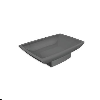 Bertocci Grace Мыльница керамическая, цвет: черый матовый