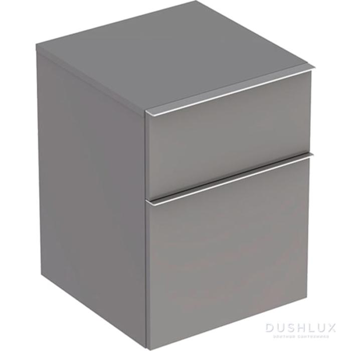 Geberit iCon Подвесной шкафчик с двумя выдвижными ящиками 45х60х47.7см, цвет: платиновый