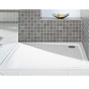 Kaldewei Duschplan, душевой поддон, материал сталь-эмаль 3,5 мм, диаметр слива 9см, полистироловая подушка, 100х100х6.5см, (необходимо доукомплектовать сифоном), цвет: белый
