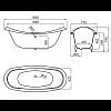 Noken Victorian Duo Ванна чугунная 180х77см., свободностоящая, цвет: белый/золото