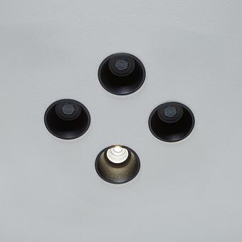 Antonio Lupi Zenit Встраиваемый верхний душ, Ø 8см, прямая струя, цвет: черный