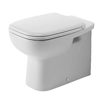 Duravit D-Code Унитаз напольный 56х35.5см, пристенный вариант, для независимого подключения воды, включая крепление, слив в стену, цвет белый