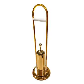 TW Harmony CV003, стойка напольная с держателем т/б и ёршиком, цвет: золото