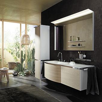 Burgbad Yso Комплект подвесной мебели 158x49x45 см, цвет: белый глянец/аутентичный дуб