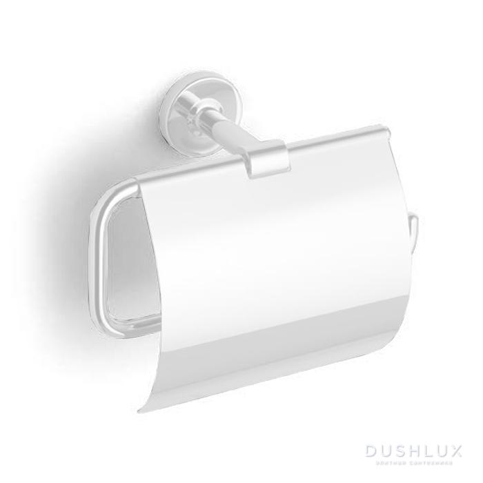 Bertocci Cinquecento Держатель для туалетной бумаги с крышкой, цвет: белый матовый