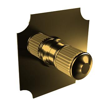 Bongio Cristallo Внешняя часть встроенного смесителя , цвет золото, ручки прозрачный cristallo 00