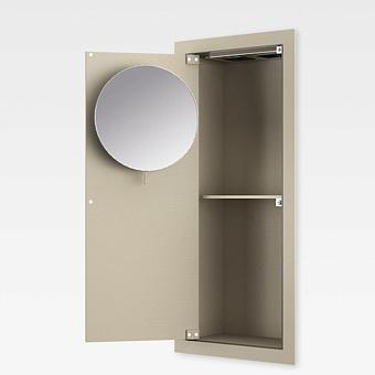 Armani Roca Island Встраиваемый шкафчик 25х13.1хh55см с зеркалом, розетками, полочкой и подсветкой (транформатор 12V/DC не включен) SX, цвет: greige