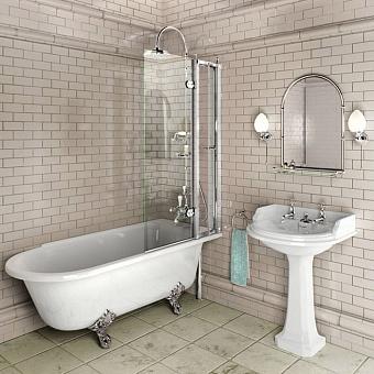 Burlington Britton Шторка для ванной с открывающейся панелью, 1450x850мм, цвет: хром