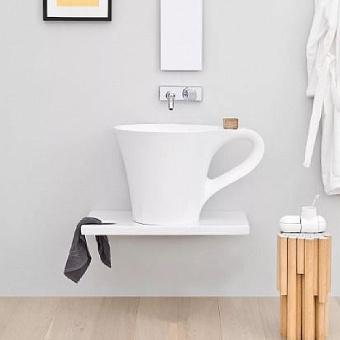 Artceram CUP Раковина накладная для столешницы  70х50хh42,5 см, без отв под смеситель, без слив перелива,  цвет белый.