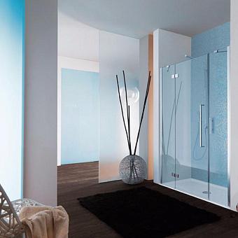 SAMO Zenit Дверь в нишу 97-101см, стекло прозрачное, петли слева,  хром