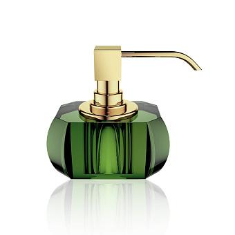 Decor Walther Kristall SSP Дозатор для мыла, настольный, хрустальное стекло, цвет: английский зеленый / золото
