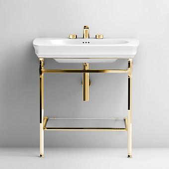 Artceram Civitas Структура металлическая Quadra для раковины 68 см, полка стекло, цвет золото