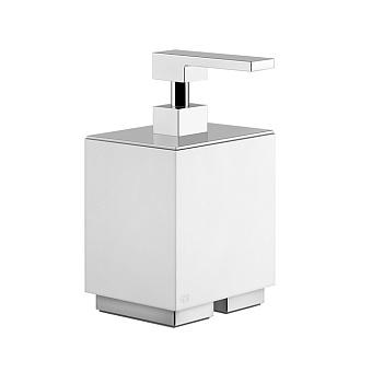 Gessi Rettangolo Дозатор для жидкого мыла настольный, цвет: хром/белый
