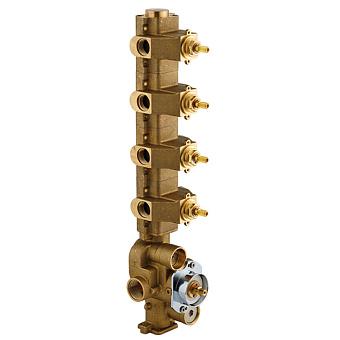 Carimali Встраиваемая часть для термостатического смесителя с 4 независимыми выходами