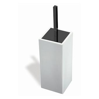 StilHaus Urania Напольный керамический ерш, цвет: черный матовый/белая керамика